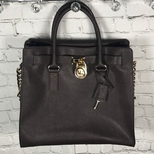 NEW Michael Kors Coffee Hamilton purse